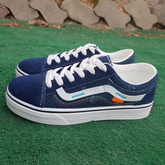 Famous new female casual Canvas Shoes-Blue image