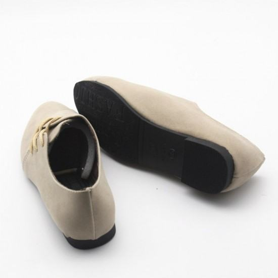 Women Unique Style Spring & Summer Leather Flat Shoes-Cream image