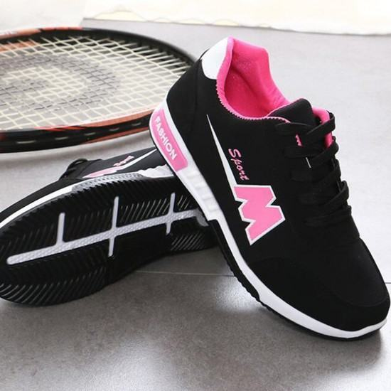 Non-Slip Lightweight Ladies Sport Shoes-Black image