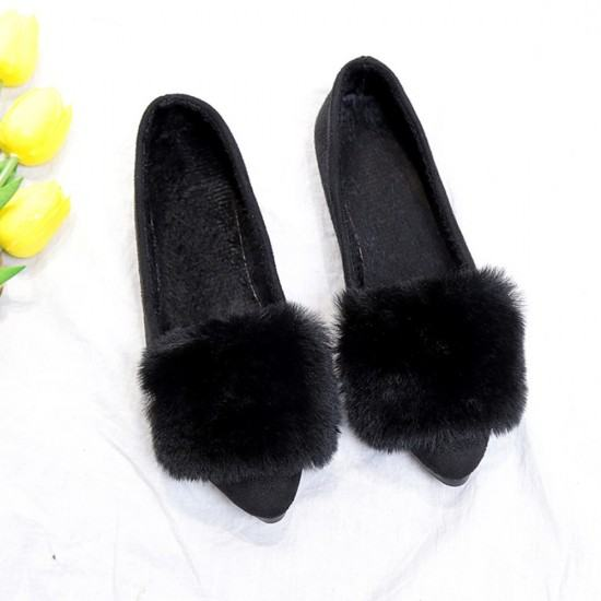 Latest Fashion Bow Ballerina Casual Flat Shoes-Black image