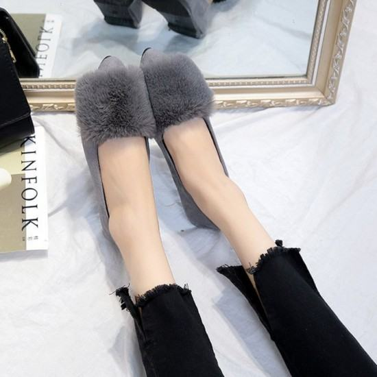 Latest Fashion Bow Ballerina Casual Flat Shoes-Grey image