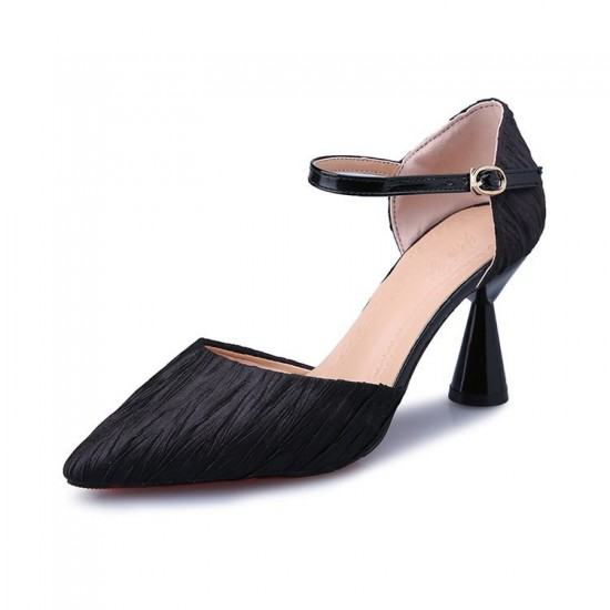 Latest Fashion Low Heels Pointed Toe Casual Sandals-Black image