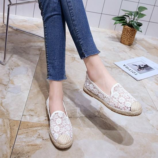 Flat Platform Breathable Lace Sneaker Shoes-White image