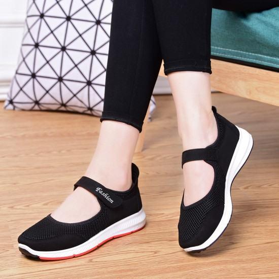 Non Slip Breathable Walking Sports Shoes-Black image