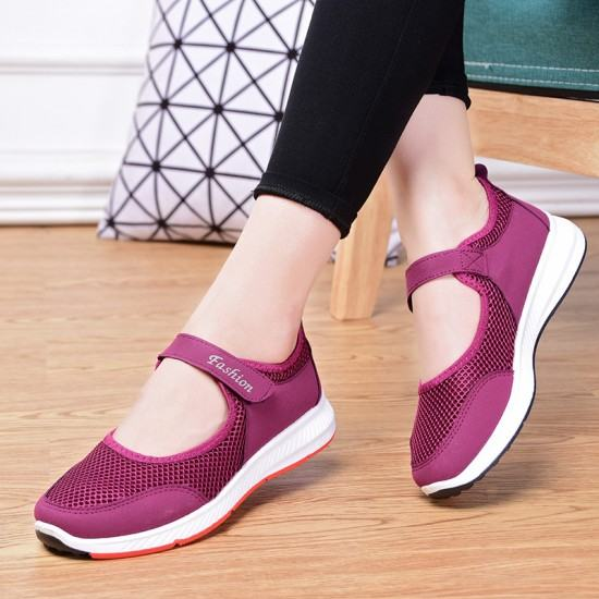 Non Slip Breathable Walking Sports Shoes-Pink image