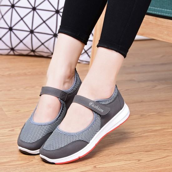 Non Slip Breathable Walking Sports Shoes-Grey image