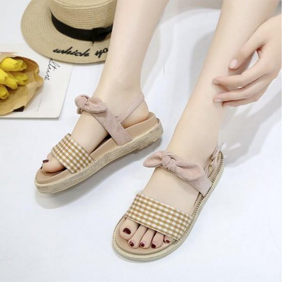 New Low Heel Round Head Light weight Sandals-Cream image