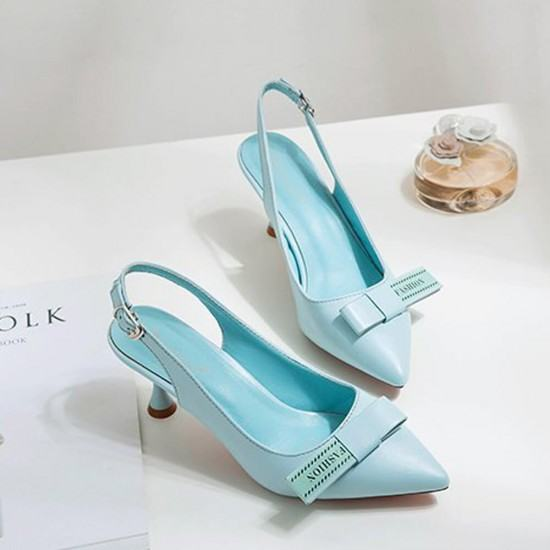 Latest Trend Stiletto Heels Pointed Toe Casual Sandals-Blue image