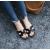 Casual Flip Flop H-Type Fashion Wear Women Slipper-Black