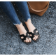 Casual Flip Flop H-Type Fashion Wear Women Slipper-Black image