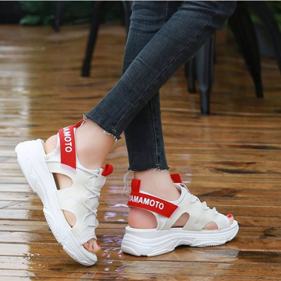 Thick Soft Bottom Muffin Casual Sandals - White image