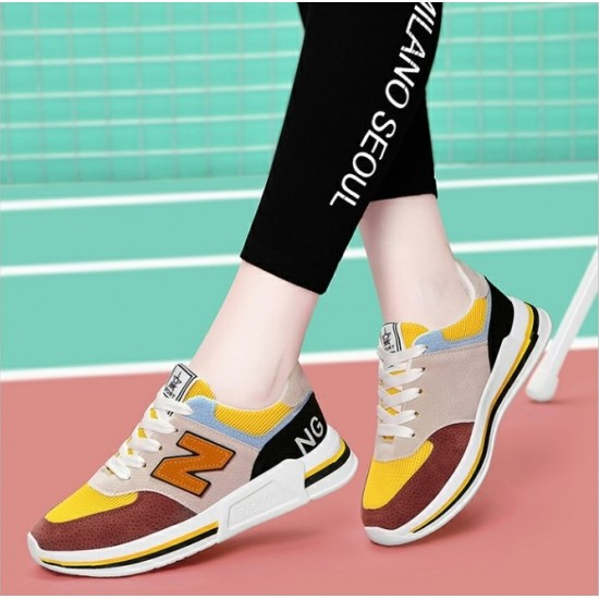 Multi-Color Comfortable Casual Sport Shoes - Brown image