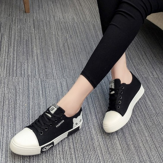 Converse Kitty Black Lace Up Low Tops Sneaker - Black image