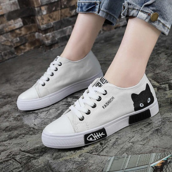 Converse Kitty Black Lace Up Low Tops Sneaker - White image