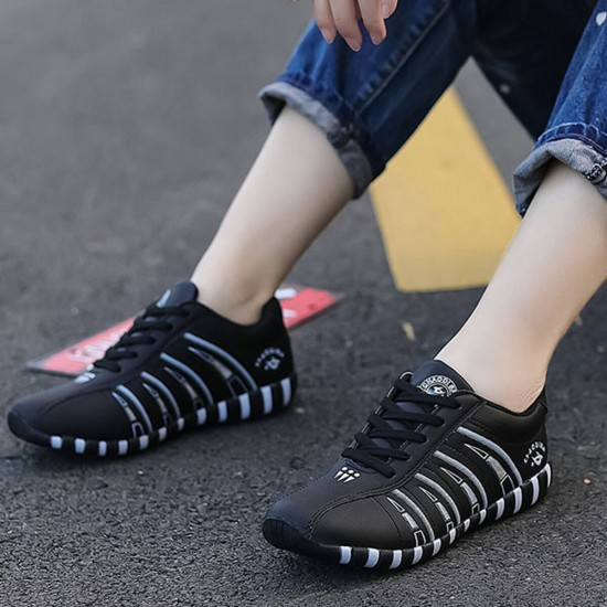 Soft Breathable Casual Jogging Sneaker - Black image