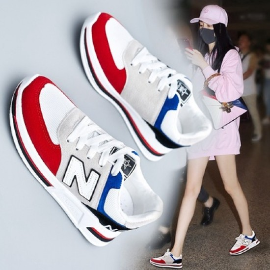 Multi-Color Comfortable Casual Sport Shoes - Red image