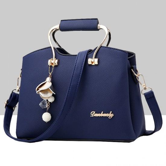 Elegant Tote Leather Clutch Shoulder Bag-Bue image