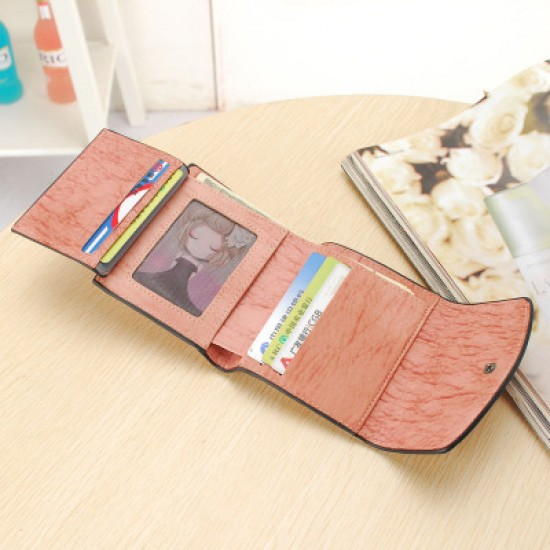 Heart with Patchwork Ladies Mini Wallet-Brown image
