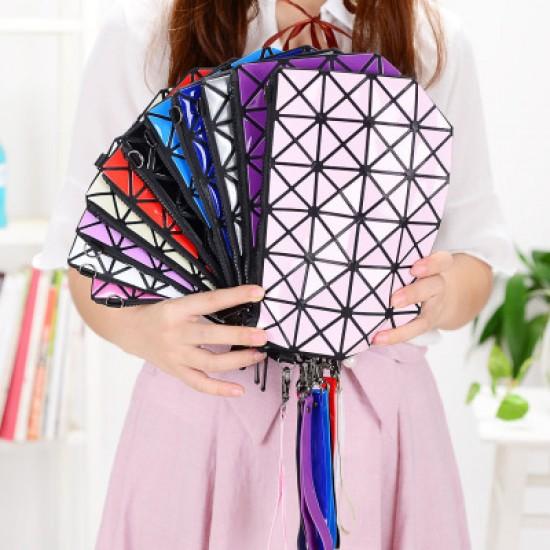 Vertical Chain Patchwork Ladies Shoulder Bag-Blue image