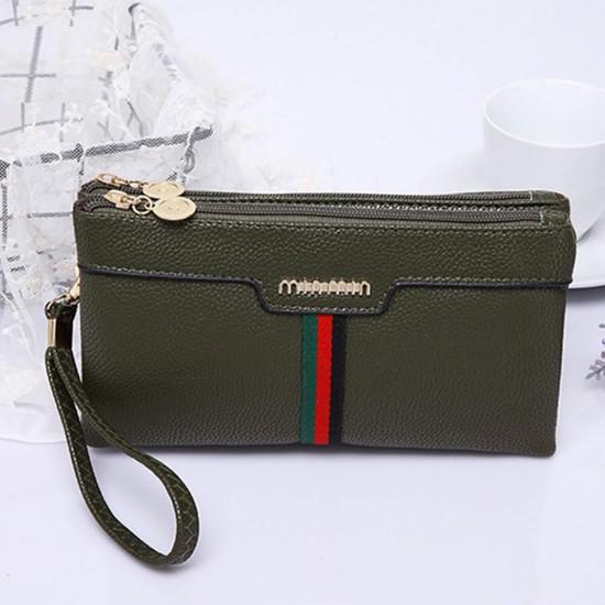 European Trending Women Clutches Design Wallet -Green image