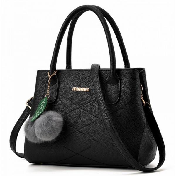 Black Color Leisure Shoulder Messenger Bag For Women image