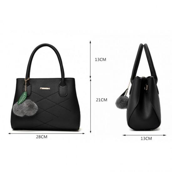 Leisure Shoulder Messenger Bag For Women-Black image