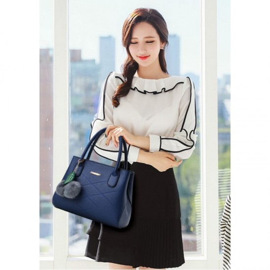 Leisure Shoulder Messenger Bag For Women-Blue image