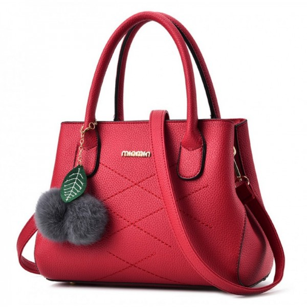 Red Color Leisure Shoulder Messenger Bag For Womens image