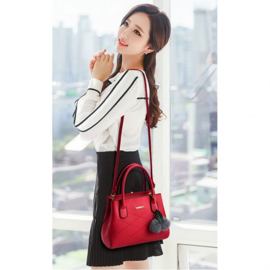 Leisure Shoulder Messenger Bag For Women-Red image