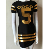 Women Fashion Black Color Bodycon Slim Stylish O Neck Mini Tops C-45 image