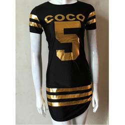 Women Fashion Black Color Bodycon Slim Stylish O Neck Mini Tops C-45