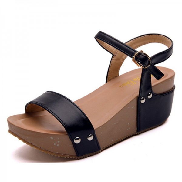 Thick Base Slope With High Heeled Waterproof Women Sandals image