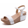 Thick Base Slope With High Heeled Waterproof Women White Sandals image