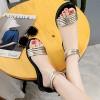 Gold Color Round Head Folder Toe Roman Women Sandals image