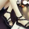 Black Color Thick Bottom Belt Buckle Women Sandals image