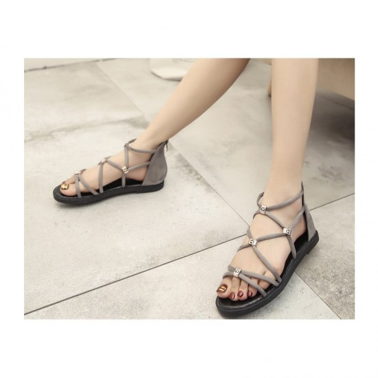 Tide Rome Strip With Open Toe Women Sandals-Grey image
