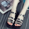 Grey Color Tide Roman Bright Skin Thick Women Sandals image