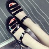 Black Color Tide Roman Bright Skin Thick Women Sandals image