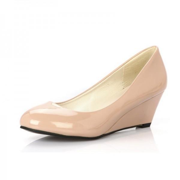 Women Cream Slope Flat Bottom Shoes image