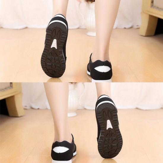 Lattice Pattern Canvas Sneaker Women Shoes-Black image