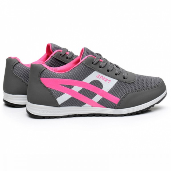 Women Fashion Grey Breathable Sports Shoes image