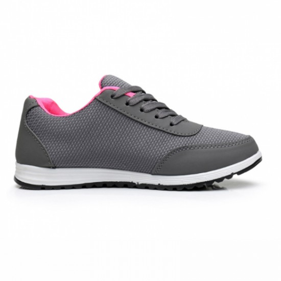 Women Fashion Breathable Running Sports Shoes-Grey image