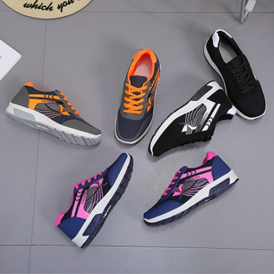Black with White Pattern Jogging Sports & Running Shoes For Women-Black image