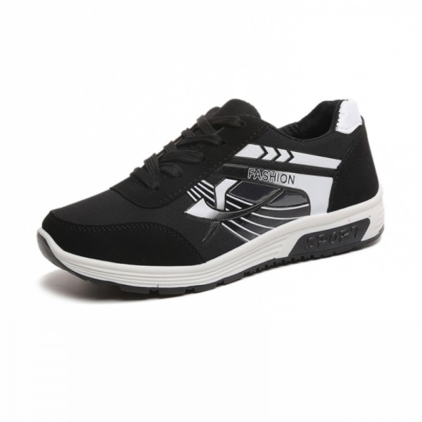 Women Comfty Black with White Shade Jogging Sports Shoes image
