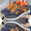 Women Comfty Grey with Orange Shade Jogging Sports Shoes image