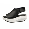 Women Light Weight Black High Heel Leather Sandals image