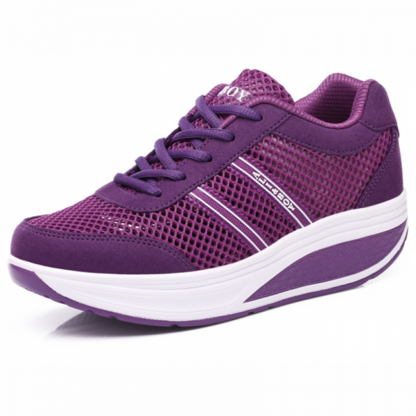 Women Breathable Purple Light Weight Soft Running Sports Shoes image