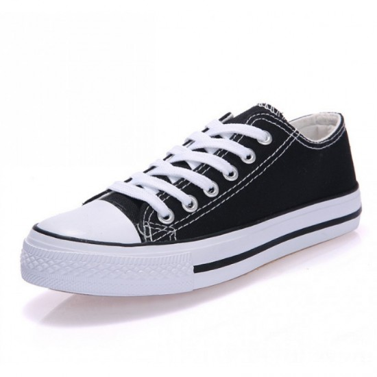 Women Black Color Comfty Canvas Shoes For Women image
