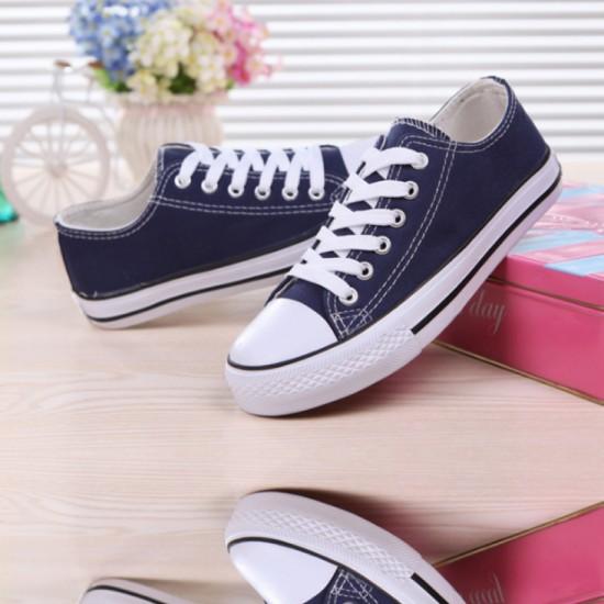 Women Blue Color Comfty Canvas Shoes For Women image