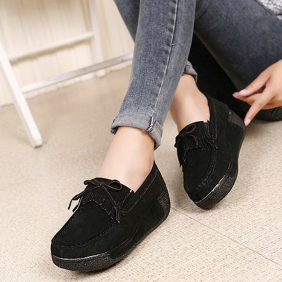 HOT Sport Platform High Wedge Casual Shoes-Black image